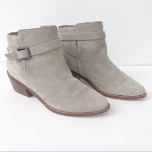 Joie Gray Suede Ankle Booties Size 37